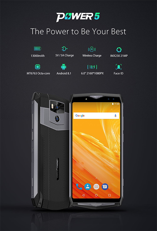 обзор Ulefone Power 5